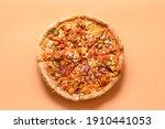 italian vegan pizza with tomato ...
