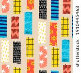 washi tape. various colorful... | Shutterstock .eps vector #1910445463