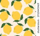juicy yellow lemons  green...   Shutterstock .eps vector #1910445469