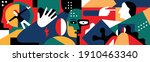 psychology   abstract vector... | Shutterstock .eps vector #1910463340