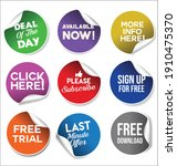 collection of colorful promo... | Shutterstock . vector #1910475370