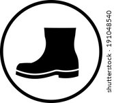 boot vector icon | Shutterstock .eps vector #191048540