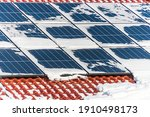 House Roof Covered With Solar...