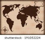 old map | Shutterstock .eps vector #191052224