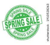 spring sale rubber stamp logo...   Shutterstock .eps vector #1910528263