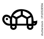 turtle icon outline style... | Shutterstock .eps vector #1910528506