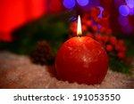 Candle And Christmas Tree Bud...