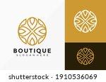 flower lotus boutique logo... | Shutterstock .eps vector #1910536069