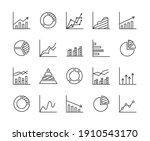 statistics   line icon set with ...   Shutterstock .eps vector #1910543170