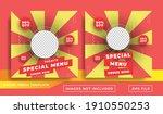social media post banner food...   Shutterstock .eps vector #1910550253