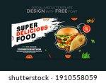 food menu banner social media... | Shutterstock .eps vector #1910558059