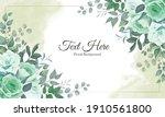 elegant floral background with...   Shutterstock .eps vector #1910561800