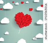 valentines day card with hearts ...   Shutterstock .eps vector #1910565016