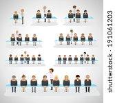 business men and women  ...   Shutterstock .eps vector #191061203