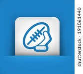 rugby ball | Shutterstock .eps vector #191061440