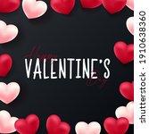 valentines day background... | Shutterstock .eps vector #1910638360