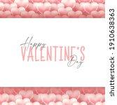valentines day background... | Shutterstock .eps vector #1910638363