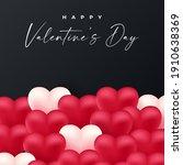 valentine background design .... | Shutterstock .eps vector #1910638369