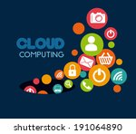 social media design over blue... | Shutterstock .eps vector #191064890