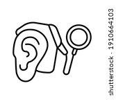 cybernetics  cochlear implant... | Shutterstock .eps vector #1910664103