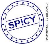 grunge blue spicy word round... | Shutterstock .eps vector #1910670910