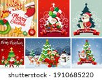 set of different christmas... | Shutterstock .eps vector #1910685220