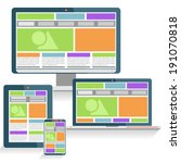 responsive web design concept... | Shutterstock .eps vector #191070818