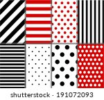 jumbo and small polka dots and... | Shutterstock .eps vector #191072093