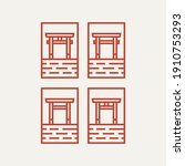 set of torii gate minimalist... | Shutterstock .eps vector #1910753293