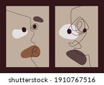 set posters of eight abstract... | Shutterstock .eps vector #1910767516