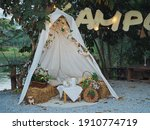 White Tent With Decorated Light ...