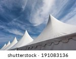 row of white event and party... | Shutterstock . vector #191083136