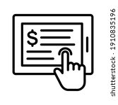 online transaction  payment ... | Shutterstock .eps vector #1910835196