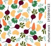 vegetable pattern. vector...   Shutterstock .eps vector #1910846413