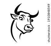 bull sign   isolated vector... | Shutterstock .eps vector #1910848549