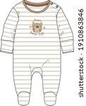 baby romper design. baby... | Shutterstock .eps vector #1910863846