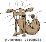a cartoon dog scratches the... | Shutterstock .eps vector #191088386