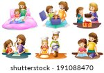 illustration of a mother and... | Shutterstock . vector #191088470