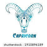 capricorn is the sign of the...   Shutterstock .eps vector #1910896189