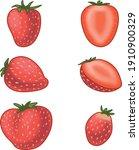 set of ripe juicy strawberries. ...   Shutterstock .eps vector #1910900329