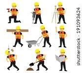 construction engineer worker... | Shutterstock .eps vector #191093624