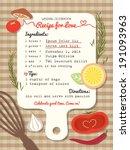Recipe Card Creative Wedding...