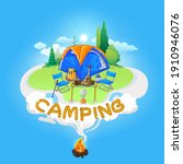 vector illustration of camping...   Shutterstock .eps vector #1910946076