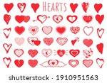 valentine s day hand drawn... | Shutterstock .eps vector #1910951563