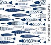 fish simple geometric seamless...   Shutterstock .eps vector #1910962453