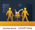 employee turnover in human... | Shutterstock .eps vector #1910971966