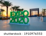Small photo of Dubai, United Arab Emirates - February 4, 2020: Entrance of Terra Sustainability Pavilion at the EXPO 2020 at sunset built for EXPO 2020 scheduled to be held in 2021 in the United Arab Emirates