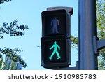 Green Pedestrian Traffic Light...
