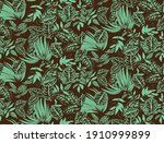 seamless floral tile fabric...   Shutterstock .eps vector #1910999899
