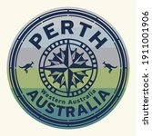stamp with the text perth ...   Shutterstock .eps vector #1911001906